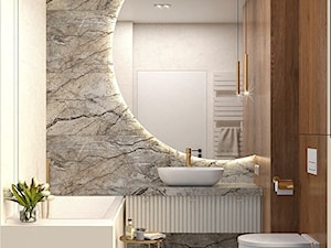 Elegancka łazienka w ciepłych kolorach ziemi