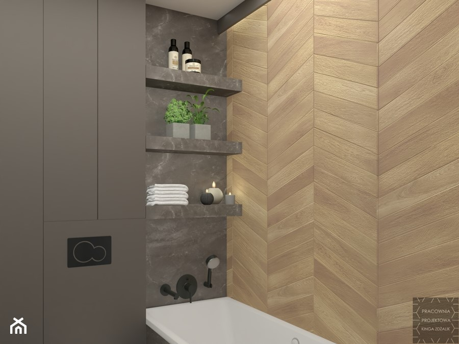 Klimatyczna łazienka Z Mchem Zdjęcie Od Pracownia