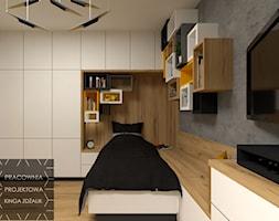 Geometryczny pokój nastolatka - zdjęcie od PRACOWNIA PROJEKTOWA KINGA ZDŻALIK