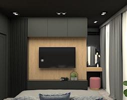 Odważna sypialnia w kobiecym mieszkaniu - zdjęcie od PRACOWNIA PROJEKTOWA KINGA ZDŻALIK - Homebook
