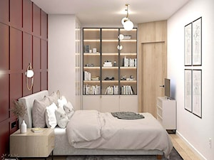 Sypialnia z kroplą bordo