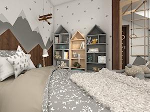 Pokój dla 4 latka z górskimi dekoracjami
