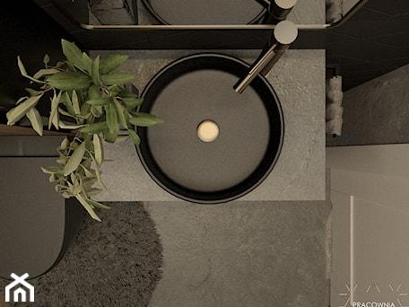 Aranżacje wnętrz - Łazienka: Czarna umywalka w łazience - PRACOWNIA PROJEKTOWA KINGA ZDŻALIK. Przeglądaj, dodawaj i zapisuj najlepsze zdjęcia, pomysły i inspiracje designerskie. W bazie mamy już prawie milion fotografii!