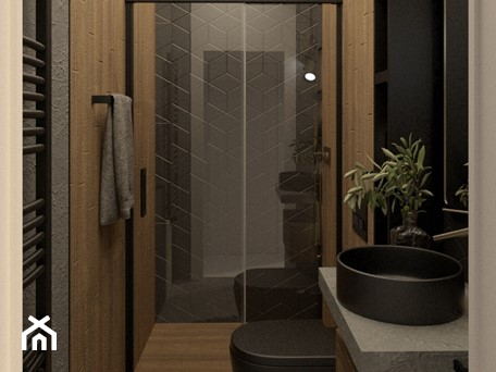 Aranżacje wnętrz - Łazienka: Prysznic z drzwiami przesuwnymi - PRACOWNIA PROJEKTOWA KINGA ZDŻALIK. Przeglądaj, dodawaj i zapisuj najlepsze zdjęcia, pomysły i inspiracje designerskie. W bazie mamy już prawie milion fotografii!