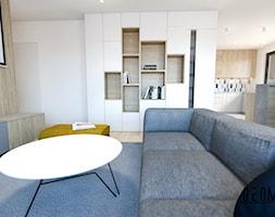 Salon z kuchnią - zdjęcie od Geometria Studio