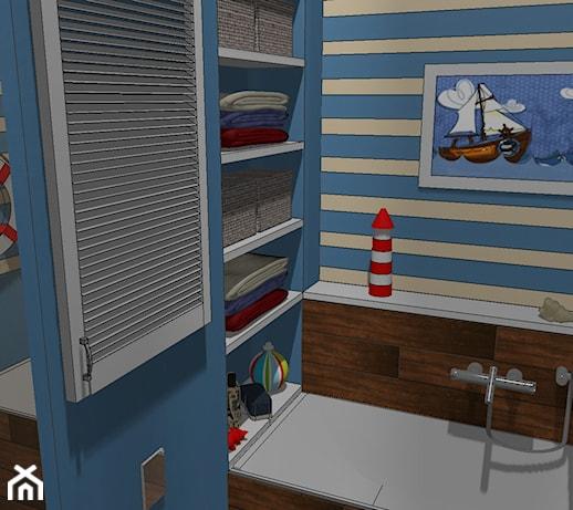Marynistyczna łazienka dla dzieci , Projekt Szoka Design Szoka Iwona  Homeb   -> Kuchnia Dla Dzieci Czarkowska Iwona Chomikuj
