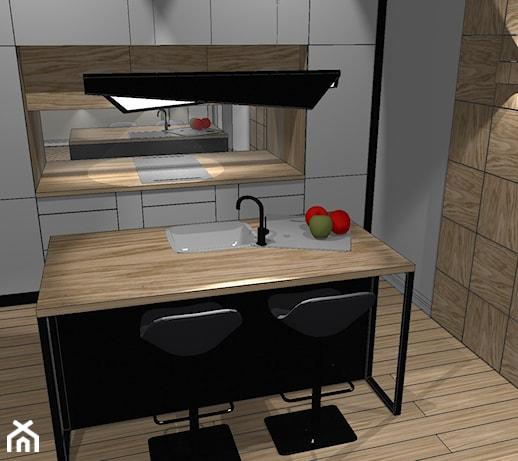 Ponadczasowa kuchnia biały i czarny lakier ocieplony olejowanym drewnem   -> Kuchnia Dla Dzieci Czarkowska Iwona Chomikuj