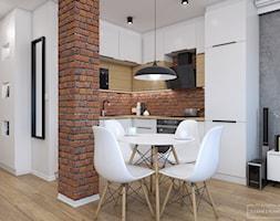 Mieszkanie z czerwoną cegłą - Kuchnia, styl nowoczesny - zdjęcie od Studio Projektowe Zgodnie Z Planem - Homebook