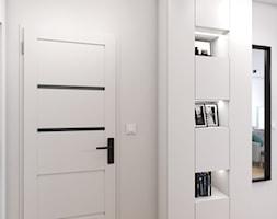 Mieszkanie z czerwoną cegłą - Hol / przedpokój, styl nowoczesny - zdjęcie od Studio Projektowe Zgodnie Z Planem - Homebook