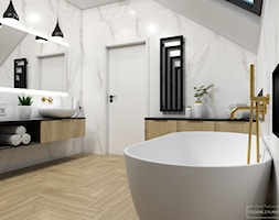 Wnętrza domu pod Krakowem - Łazienka, styl nowoczesny - zdjęcie od Studio Projektowe Zgodnie Z Planem - Homebook