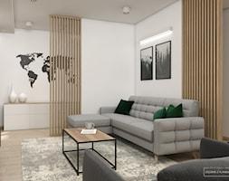 Jasny dom w Niepołomicach - Salon, styl nowoczesny - zdjęcie od Studio Projektowe Zgodnie Z Planem - Homebook