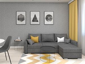 Żółto-szary salon