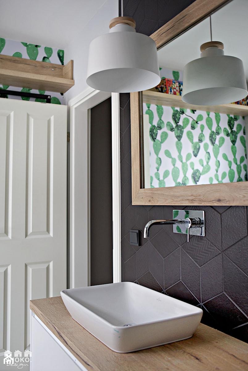 Creme de la creme - Łazienka w bloku w domu jednorodzinnym bez okna, styl skandynawski - zdjęcie od SHOKO.design