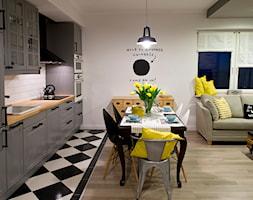 HOLE to another Universe - Mała otwarta biała kuchnia jednorzędowa w aneksie, styl eklektyczny - zdjęcie od SHOKO.design