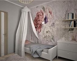 apartament g - Mały szary pokój dziecka dla dziewczynki dla nastolatka, styl skandynawski - zdjęcie od Minima Studio - Homebook