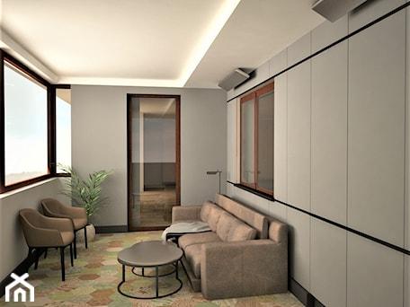 apartament k - Średni taras z tyłu domu, styl nowoczesny - zdjęcie od Minima Studio