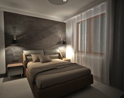 apartament k - Średnia biała czarna sypialnia małżeńska, styl nowoczesny - zdjęcie od Minima Studio - Homebook
