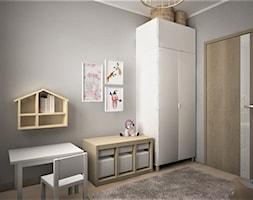 apartament g - Średni szary pokój dziecka dla chłopca dla ucznia dla malucha, styl skandynawski - zdjęcie od Minima Studio - Homebook
