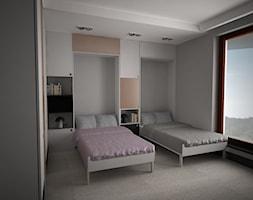 apartament k - Mały szary pokój dziecka dla chłopca dla dziewczynki dla rodzeństwa dla nastolatka, styl nowoczesny - zdjęcie od Minima Studio - Homebook