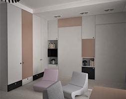apartament k - Średni biały pokój dziecka dla dziewczynki dla nastolatka, styl nowoczesny - zdjęcie od Minima Studio - Homebook