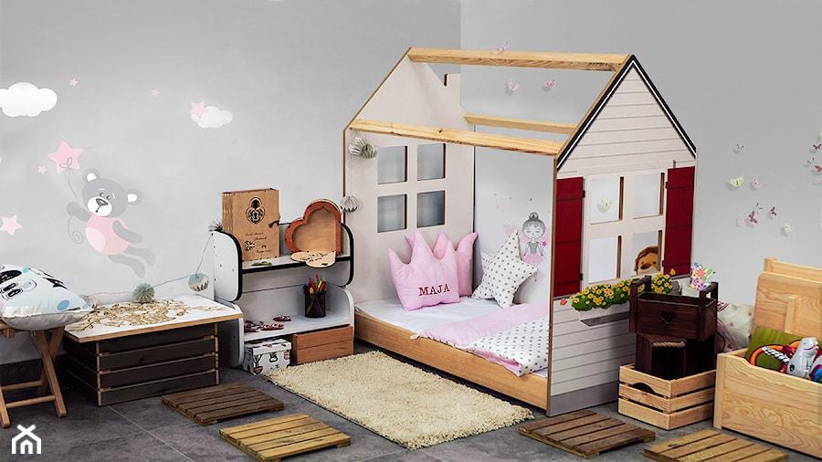 Domek z łóżkiem dziecięcym w stylu skandynawskim - zdjęcie od DIP-MAR sklep