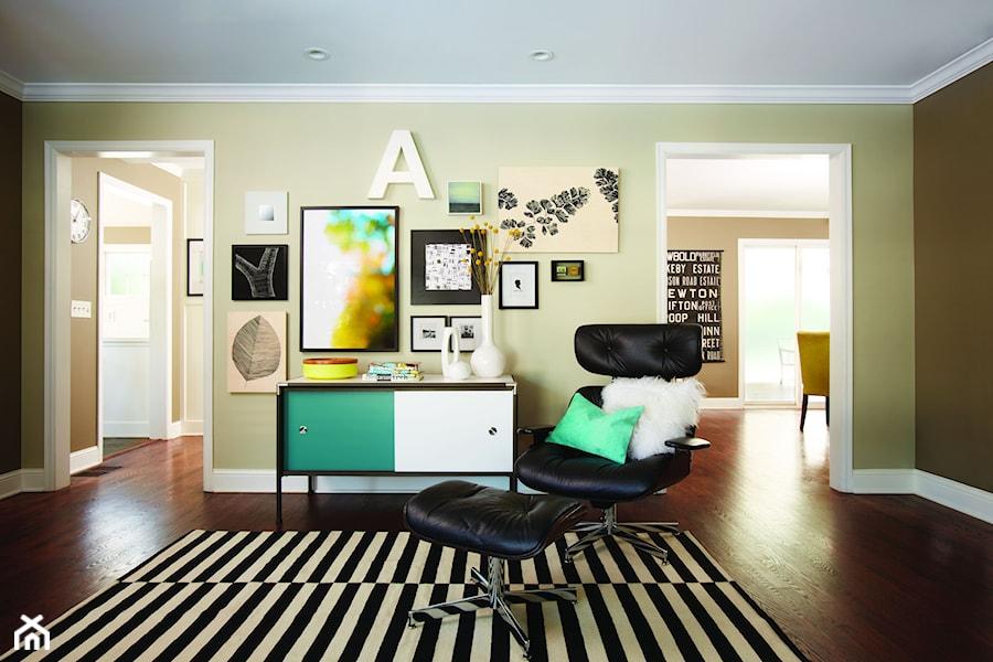Inspiracje - Średni brązowy salon, styl eklektyczny - zdjęcie od Command Inspiracje