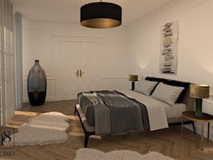 Elegancka sypialnia w kamienicy - zdjęcie od studio98