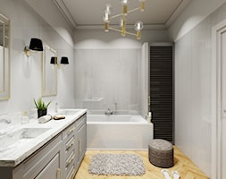 łazienka 11m2 średnia Biała Szara łazienka Styl