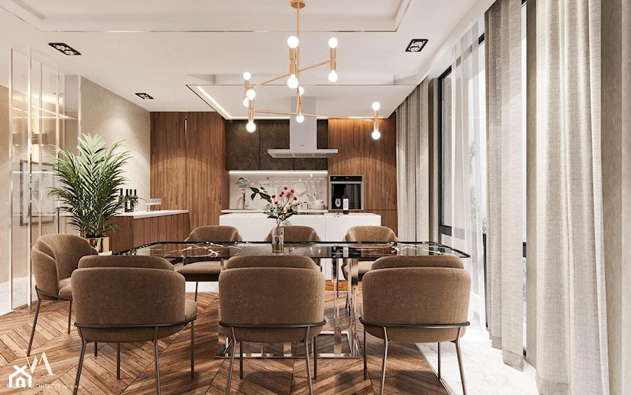 Aranżacje wnętrz - Jadalnia: Piaszczysty brzeg - Duża otwarta szara jadalnia w kuchni, styl art deco - Valido Architects. Przeglądaj, dodawaj i zapisuj najlepsze zdjęcia, pomysły i inspiracje designerskie. W bazie mamy już prawie milion fotografii!