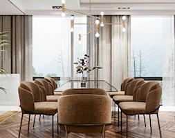Piaszczysty brzeg - Średnia otwarta szara jadalnia w salonie, styl art deco - zdjęcie od Valido Architects