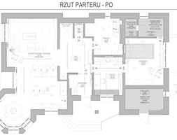 Rzut parteru - po - zdjęcie od IN3 Architekci - Homebook