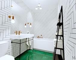 Łazienka gościnna - zdjęcie od MALACHIT wnętrza