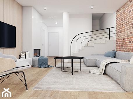 Aranżacje wnętrz - Salon: MIESZKANIE 80 M2 / WARSZAWA - Średni biały salon, styl skandynawski - TILLA architects. Przeglądaj, dodawaj i zapisuj najlepsze zdjęcia, pomysły i inspiracje designerskie. W bazie mamy już prawie milion fotografii!