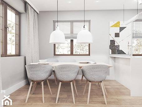 Aranżacje wnętrz - Jadalnia: MIESZKANIE 80 M2 / WARSZAWA - Średnia otwarta szara jadalnia jako osobne pomieszczenie, styl skandy ... - TILLA architects. Przeglądaj, dodawaj i zapisuj najlepsze zdjęcia, pomysły i inspiracje designerskie. W bazie mamy już prawie milion fotografii!