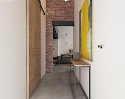 LOFT W ŻYRARDOWIE - Mały biały brązowy hol / przedpokój, styl industrialny - zdjęcie od TILLA architects