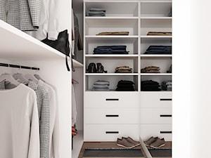 LOFT W ŻYRARDOWIE - Mała zamknięta garderoba, styl minimalistyczny - zdjęcie od TILLA architects