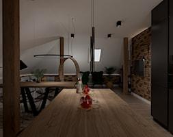 Projekt domu mieszkania na poddaszu - Kuchnia, styl industrialny - zdjęcie od MATO projekt - Homebook