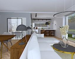 Projekt wnętrza domu nowoczesnej stodoły - Salon, styl nowoczesny - zdjęcie od MATO projekt - Homebook