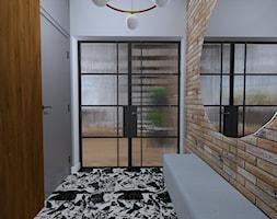 Projekt wnętrza domu nowoczesnej stodoły - Hol / przedpokój, styl nowoczesny - zdjęcie od MATO projekt - Homebook