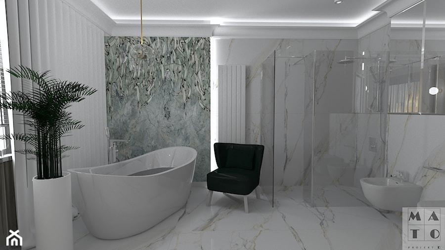 2 wersja projektu łazienki z wanną wolnostojącą - zdjęcie od MATO projekt