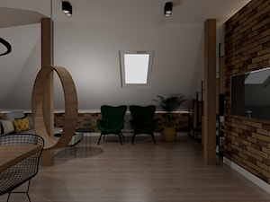 Projekt domu mieszkania na poddaszu