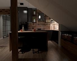 Projekt domu mieszkania na poddaszu - Salon, styl industrialny - zdjęcie od MATO projekt - Homebook