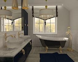 Łazienka glamour ze złotem - Łazienka, styl glamour - zdjęcie od MATO projekt - Homebook