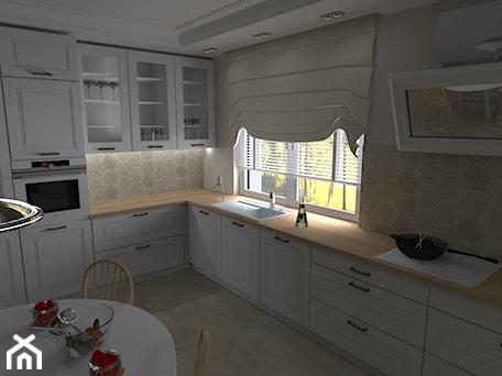 Aranżacje wnętrz - Kuchnia: Dom jednorodzinny pod Kaliszem - Duża biała kuchnia w kształcie litery l z oknem, styl klasyczny - MATO projekt. Przeglądaj, dodawaj i zapisuj najlepsze zdjęcia, pomysły i inspiracje designerskie. W bazie mamy już prawie milion fotografii!
