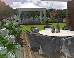 Ogród w Gdyni Orłowie - projekt - Duży ogród za domem - zdjęcie od Green Pro Studio