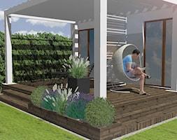 Ogród w Gdyni Orłowie - projekt - Średni ogród za domem - zdjęcie od Green Pro Studio