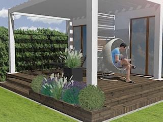 Ogród w Gdyni Orłowie - projekt