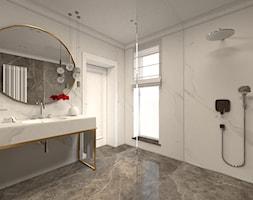 Łazienka w domu jednorodzinnym - Średnia łazienka w bloku w domu jednorodzinnym z oknem, styl klasyczny - zdjęcie od żurawicki.design
