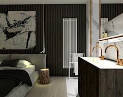 Apartament - Mała łazienka w domu jednorodzinnym jako salon kąpielowy, styl nowoczesny - zdjęcie od żurawicki.design