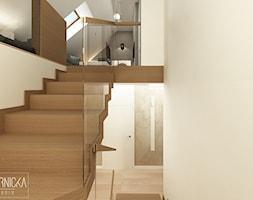 DOM Z OBRAZAMI - Schody, styl nowoczesny - zdjęcie od DWORNICKA STUDIO - Homebook